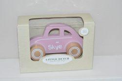 Little dutch auto roze met naam
