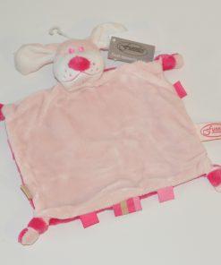 Funnies tutpopje hond met naam roze