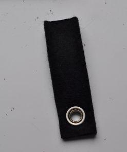 Vilten sleutelhanger Zwart