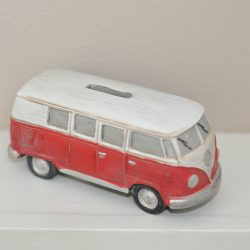 spaarpot volkswagen bus rood