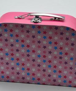 Koffertje met sterren roze