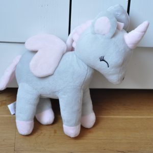 plush grey metoo unicorn