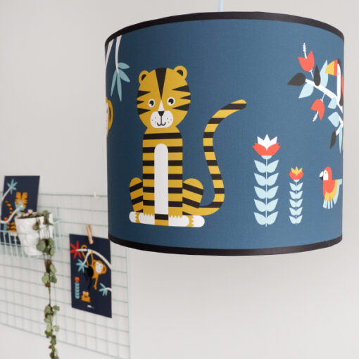 Lamp Jungle donker blauw