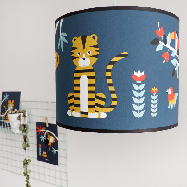 Lamp Jungle Kinderkamer donker blauw