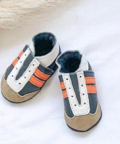 babyslofje blauw oranje jogger baby dutch