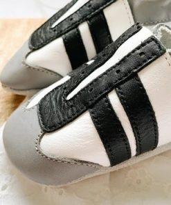 leren jogger zwart wit baby dutch