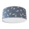 Plafondlamp_Pluisbloem blauw