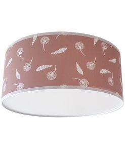 Plafondlamp_Pluisbloem roze