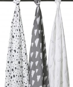 meyco-swaddles-dots-clouds-feather-marine-grijs