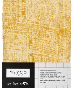 meyco-aankleedkussenhoes-fine-lines-okergeel