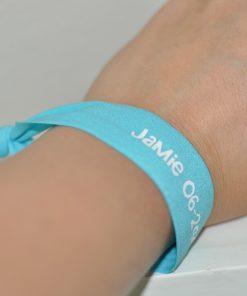 SOS armbandje met naam en telefoonnummer