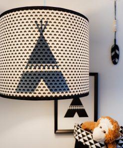 Lamp silhouet Tipi_maantjes zwart_ANNIdesign