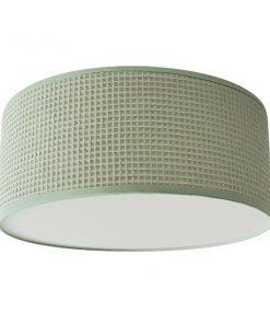 Plafondlamp Wafelstof old green