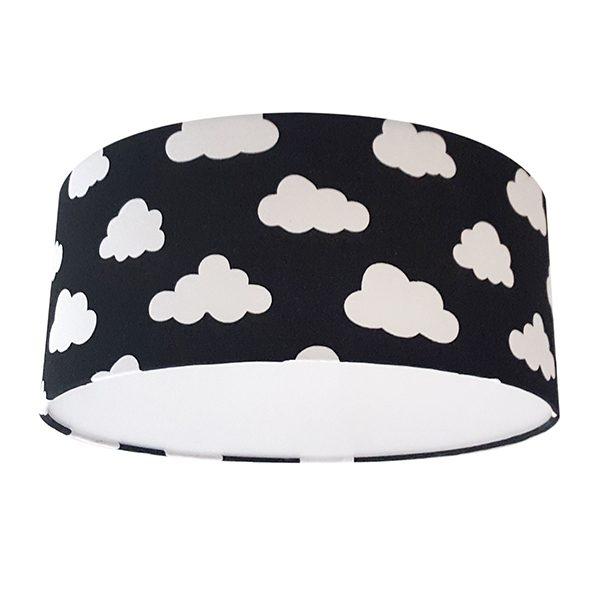 Plafondlamp Wolken op zwart