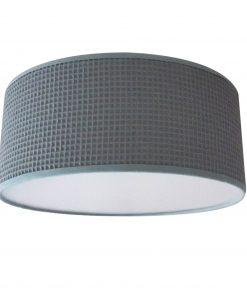 Plafondlamp wafelstof sappphire green