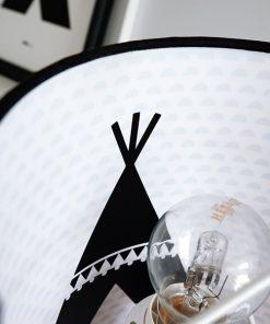 Wandlamp silhouet Tipi_Maantjes zwart