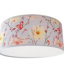 plafondlamp flamingo met lentebloesem