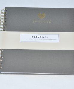 babyboek grijs linnen HOP