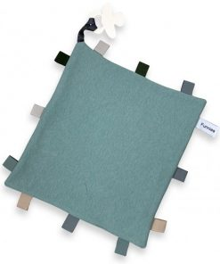 Labeldoekje speen stone green