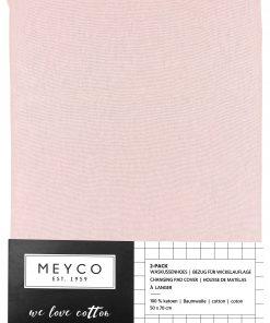 Meyco waskussenhoes 2stuks basic - Licht roze