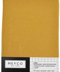 meyco-aankleedkussenhoes-basic-jersey-okergeel-z-2-pack