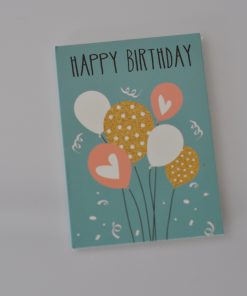 Happy birthday mint cadeaukaartje