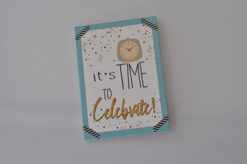 cadeaukaartje it's time to celebrate