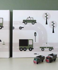 canvas voertuigen auto olijfgroen