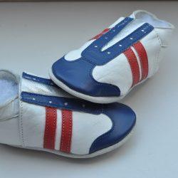 Babyslofjes Baby dutch jogger Rood / Blauw wit