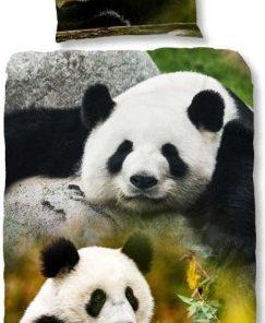 Dekbedovertrek panda eenpersoons