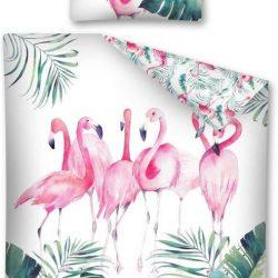 Dekbed flamingo