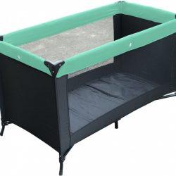 Kekk campingbedje Charlene 60 x 120 cm zwart/mintgroen