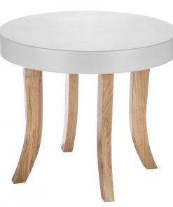 tafel klein wit met hout