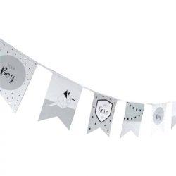 Geboorte vlaggenlijn jongen