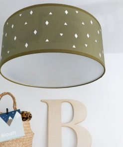Plafondlamp silhouet Dino ANNIdesign wyber vintage groen 01