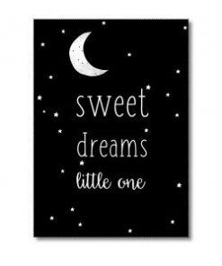 ansichtkaart-sweet-dreams-little-one-miekinvorm