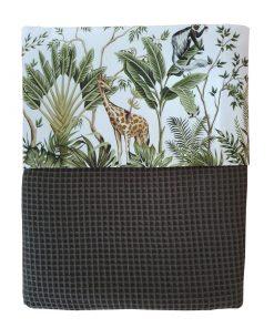 Deken Jungle monkeys giraf en olifant custom made