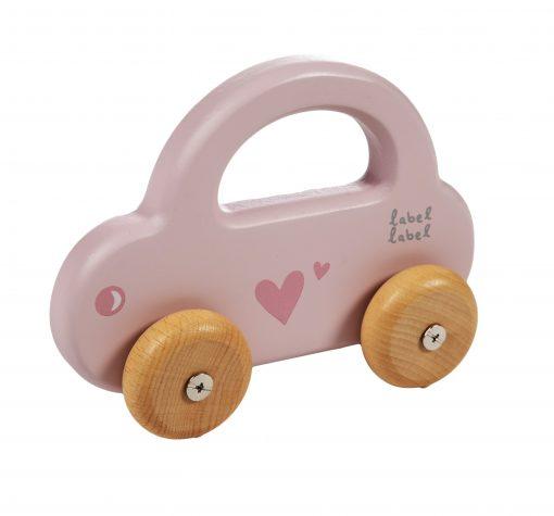 Label label roze auto