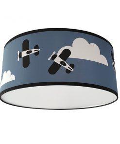 Plafondlamp Vliegtuigen en Wolken_ANNIdesign_Jeans blauw_01